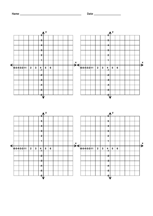 Blank Numbered Coordinate Grid Templates