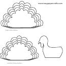 Large And Medium Turkey Feathers Templates