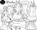Maiden Paper Doll Template