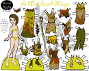 Cwoodland Mage Paper Doll Template
