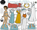 1930s Summer Paper Doll Template