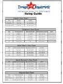 Dress-up-america Sizing Guide