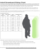 Adult Snowboard Sizing Chart