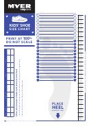 Myer Kids Shoe Size Chart