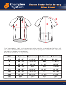 Champion System Donna Forte Bella Jersey Size Chart