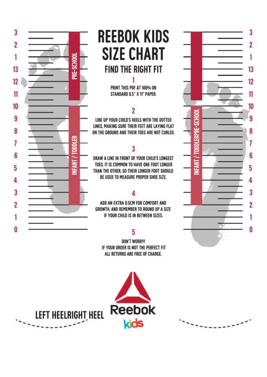 printable shoe size chart pdf