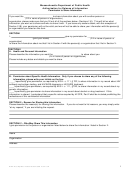 Massachusetts Department Of Public Health Authorization For Release Of Information Permission To Share Information