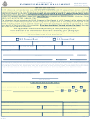Statement Of Non-receipt Of A U.s. Passport
