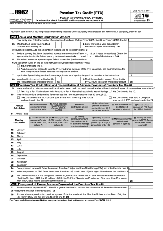 Top Irs Form 8962 Templates Free To Download In Pdf Format