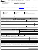 Form Oa 144m - For-hire Intrastate Operating Authority Certificate, License, Or Permit Renewal Application