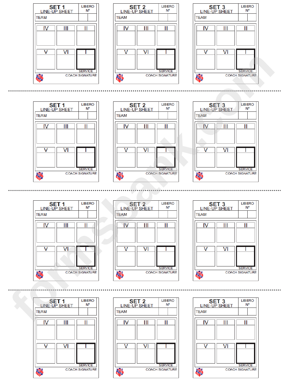 Gargantuan image with volleyball lineup sheet printable