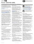 Form 1040-es (nr) - U.s. Estimated Tax For Nonresident Alien Individuals - 2016