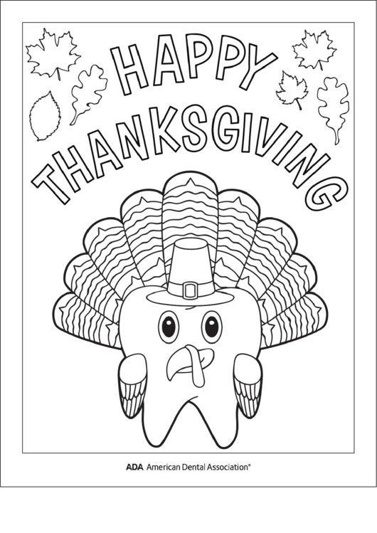 Happy Thanksgiving Coloring Sheet printable pdf download