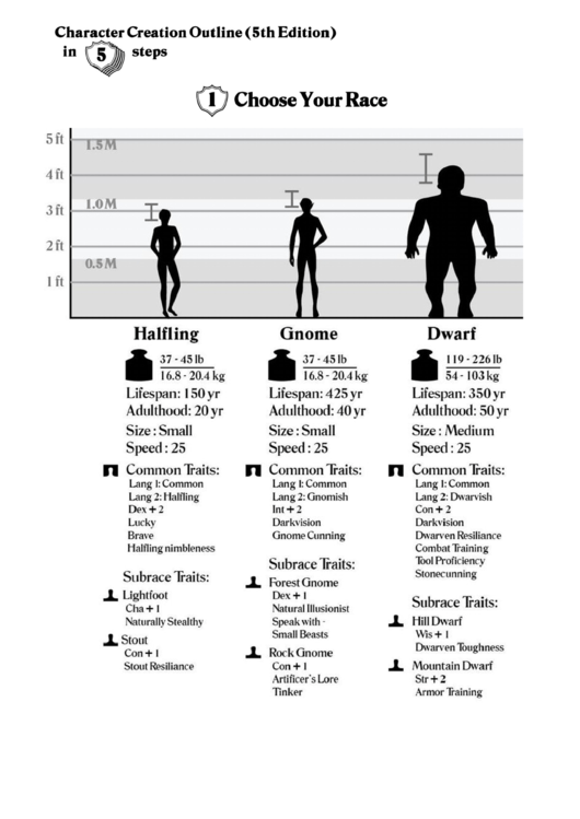character creation outline  5th edition  printable pdf
