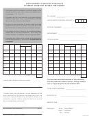 Student Assistant Hourly Time Sheet Template