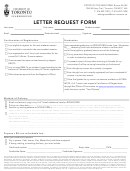 Letter Request Form - University Of Toronto