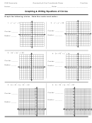 Graphing Circles And Writing Equations Homework Template