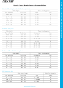 Bicycle Frame Size Reference Standard Chart
