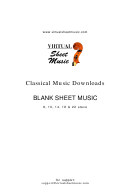Blank Sheet Music - 8, 10, 14, 18 & 22 Stave