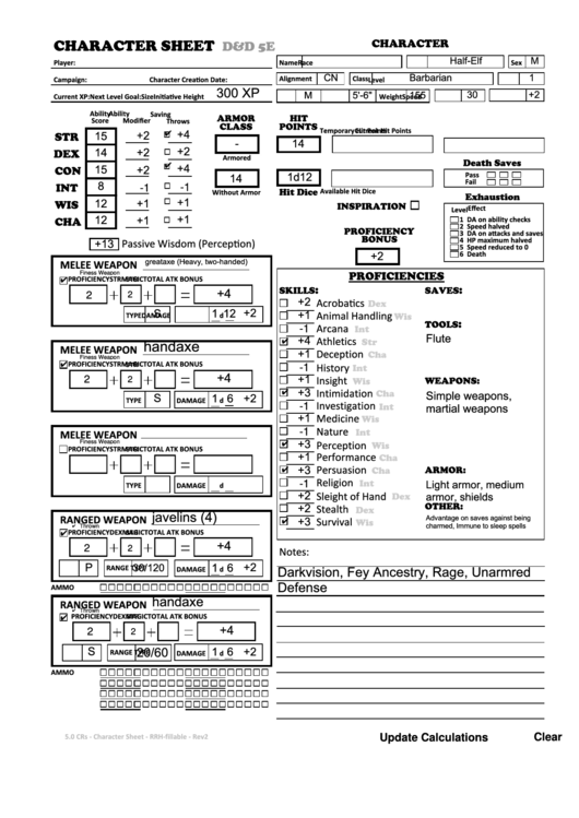 Barbarian Dnd Sheet Related Keywords & Suggestions