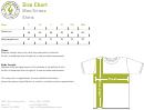 Greenlight Apparel Men/unisex Shirts Size Chart