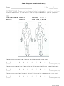 Body Pain Diagram And Pain Rating Chart