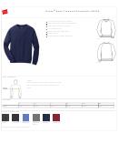 Hanes Nano Crewneck Sweatshirt Size Chart