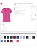 Hanes Ladies Nano-t Cotton V-neck T-shirt Size Chart