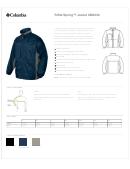 Columbia Riffle Spring Jacket Size Chart
