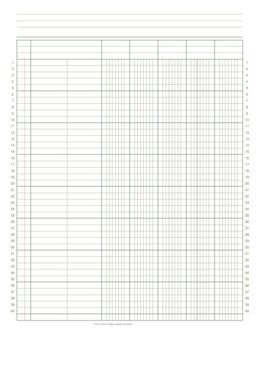 5 Column Ledger Paper printable pdf download