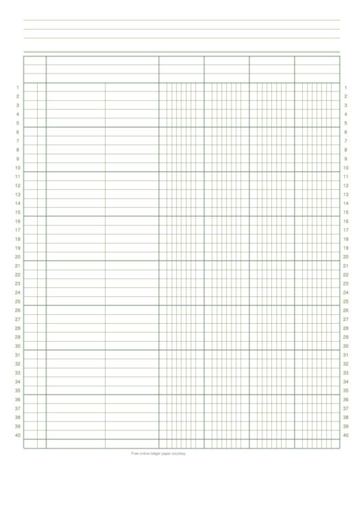 4 column ledger paper printable pdf download