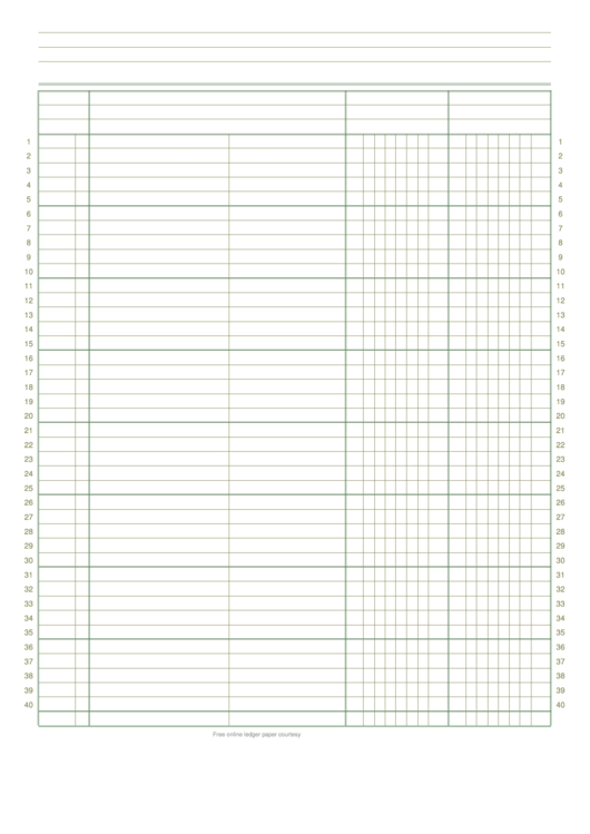 2 Column Ledger Paper Printable Pdf Download