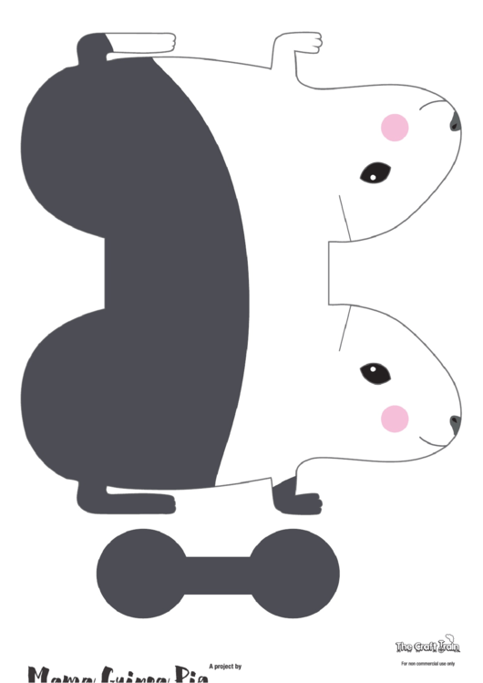 Paper Guinea Pig Template printable
