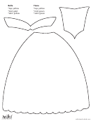 Belle And Tiana Dress Cutout