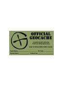Label Templates Official Geocache