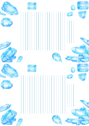 Lined Paper With Blue Crystal Borders