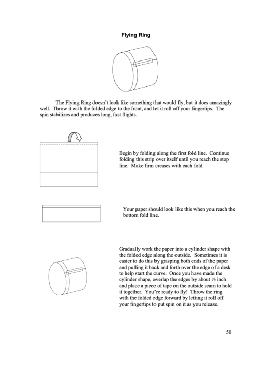 Flying Ring Paper Airplane Instructions Printable Pdf Download