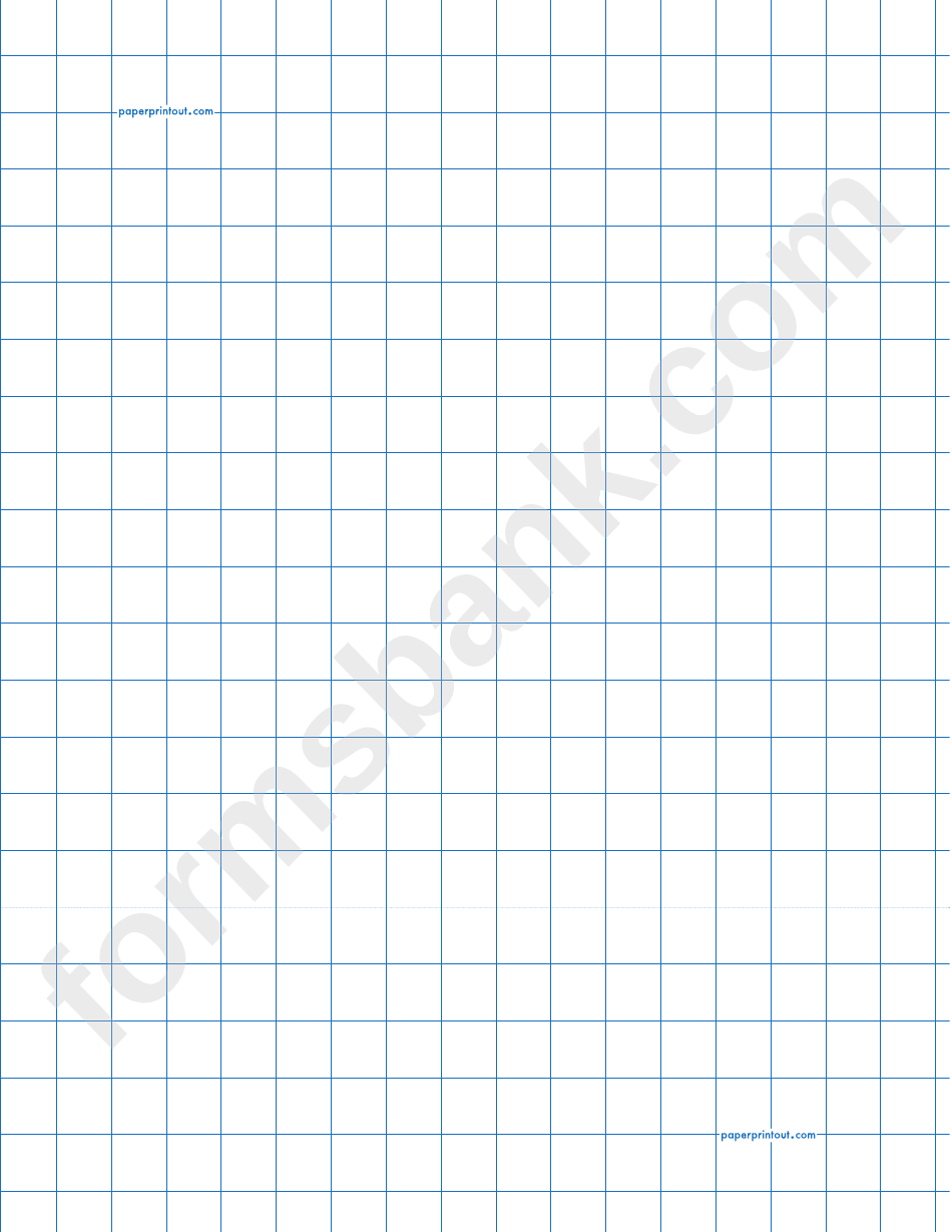 1/2 Inch Graph Paper Template