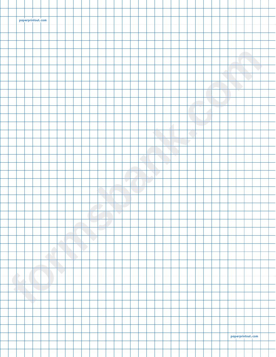 1/4 Inch Graph Paper Printout