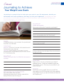 Weight Loss Goals Journaling Template