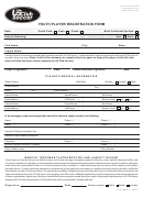 Youth Player Registration Form - Us Club Soccer printable pdf download